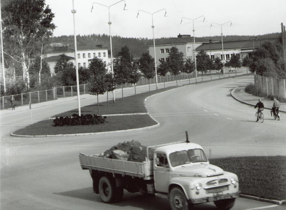 Rautatieasema Paloheimonkadulta päin kuvattuna. Kuvaaja Odert Lackschewitz. RKM-kokoelmat.